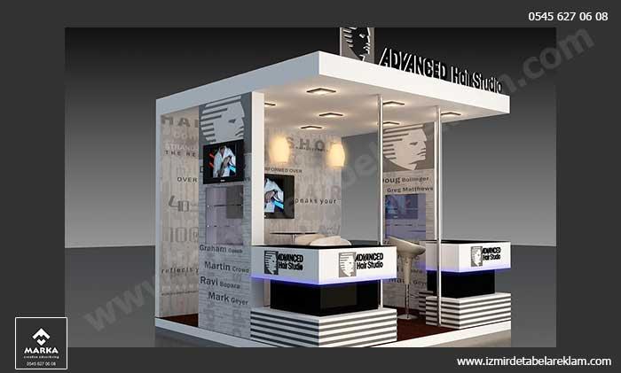 izmir fuar standı, stand tasarımları, izmir tabela reklam ve kutu harf üretimi, fuar stand izmir, ışıklı tabela, teşhir standı