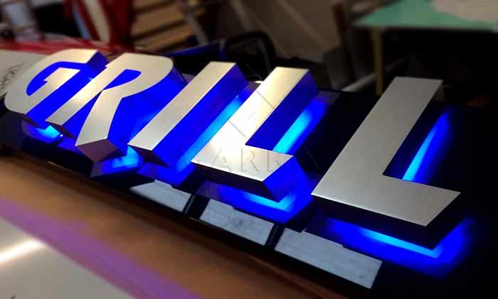 Krom ışıklı kutu harf tabela çeşitleri