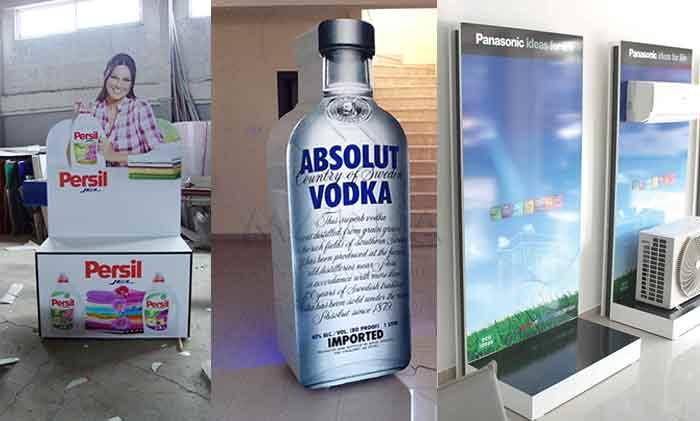 ürün tanıtım standları, akrilik plastik standlar